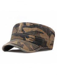 Camouflage Wash Dyed Military Hat -