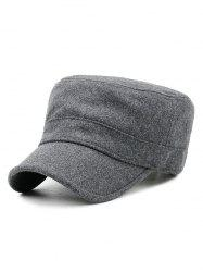 Winter Solid Color Flat Top Hat -