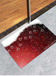 Christmas Hanging Balls Pattern Anti-skid Water Absorption Area Rug -
