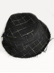 Stylish Plaid Decorative Bucket Hat -