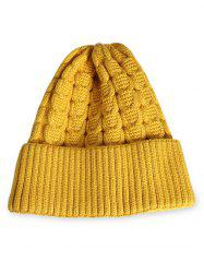 Winter Solid Color Flanging Thick Beanie -