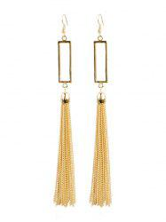 Geometric Fringed Fish Hook Earrings -