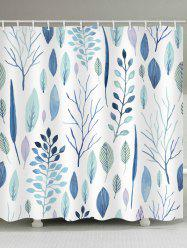 Leaf Pattern Waterproof Shower Curtain -