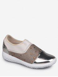 Rhinestone Patch Slip On Sneakers -