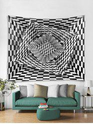 3D Plaid Geometric Print Tapestry Art Decoration -