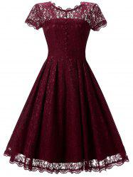 A-line Lace Cocktail Dress -