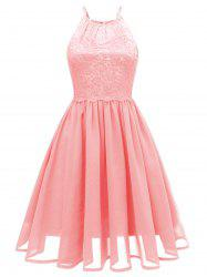 Lace Bodice Fit and Flare Dress -