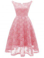 A Line Lace Knee Length Party Dress -