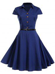 Vintage Buttons Pin Up Dress -
