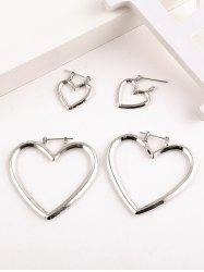 Hollow Heart Shape Detachable Earrings -