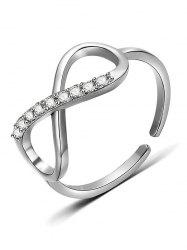 Eight Design Rhinestone Finger Ring -
