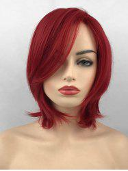 Short Side Bang Straight Party Heat Resistant Synthetic Wig -