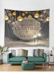 Merry Christmas Ball Print Tapestry Art Decoration -