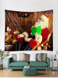 Father Christmas Gift Tapestry Art Decoration -