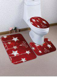Christmas Crystal Star 3 Pcs Toilet Mat Set -