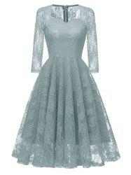 Sweetheart Neck Lace Party Dress -