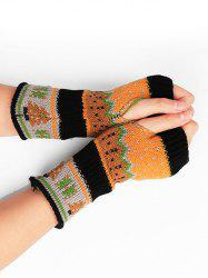 Christmas Tree Fingerless Winter Gloves -