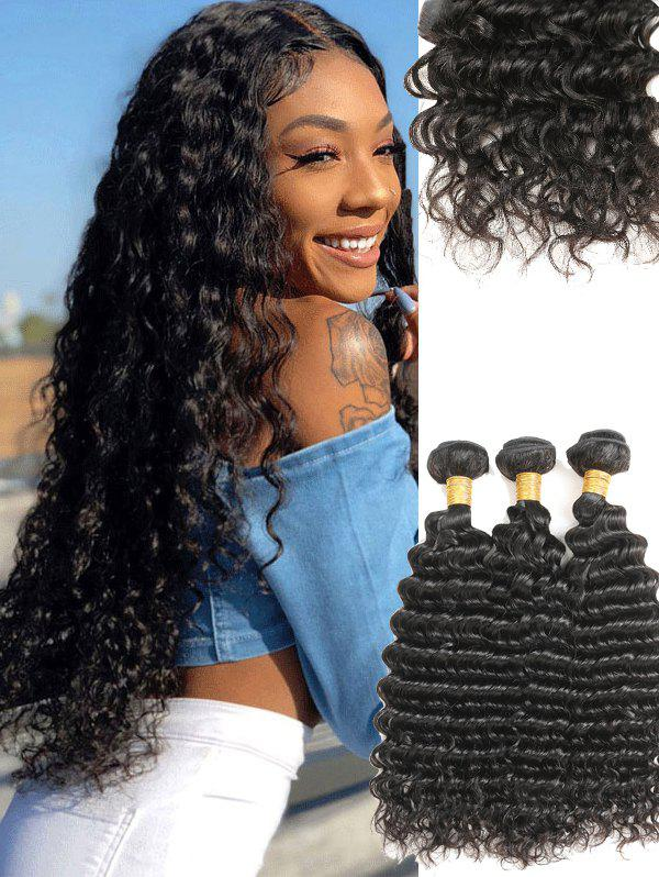 Latest Brazilian Virgin Deep Wave Human Hair Weaves