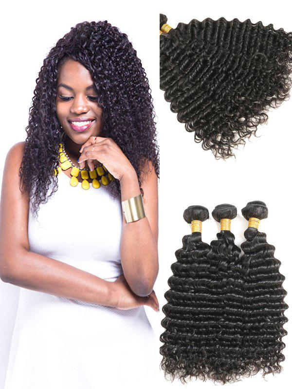 Discount Indian Virgin Real Human Hair Deep Wave Hair Weaves