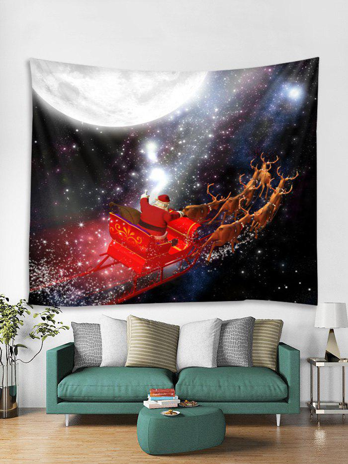 Outfit Father Christmas Deer Sleigh Print Tapestry Art Decoration