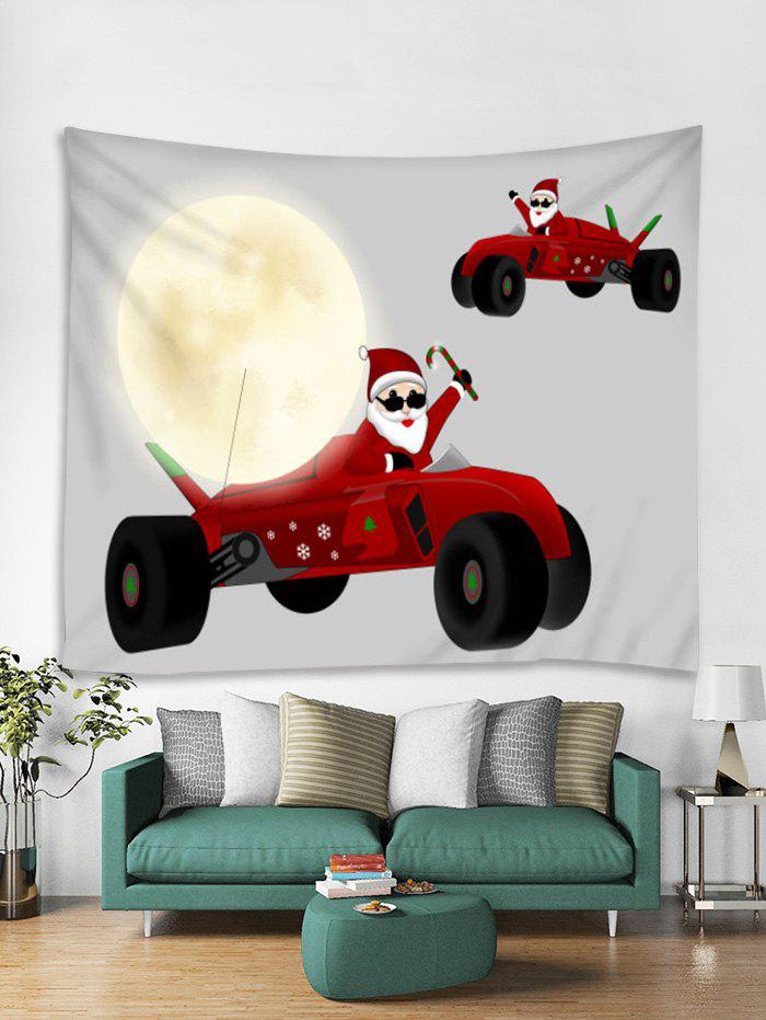 Unique Father Christmas Car Print Tapestry Art Decoration