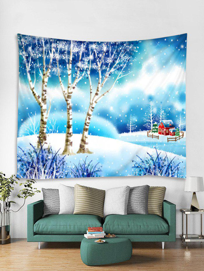 Outfits Christmas Snow World Print Tapestry Art Decoration