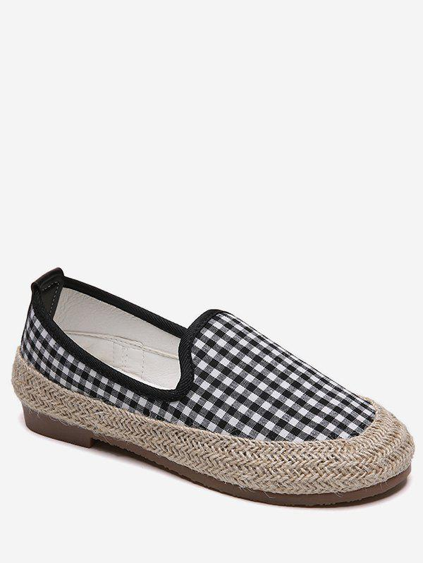 Store Plaid Espadrilles Slip On Flats