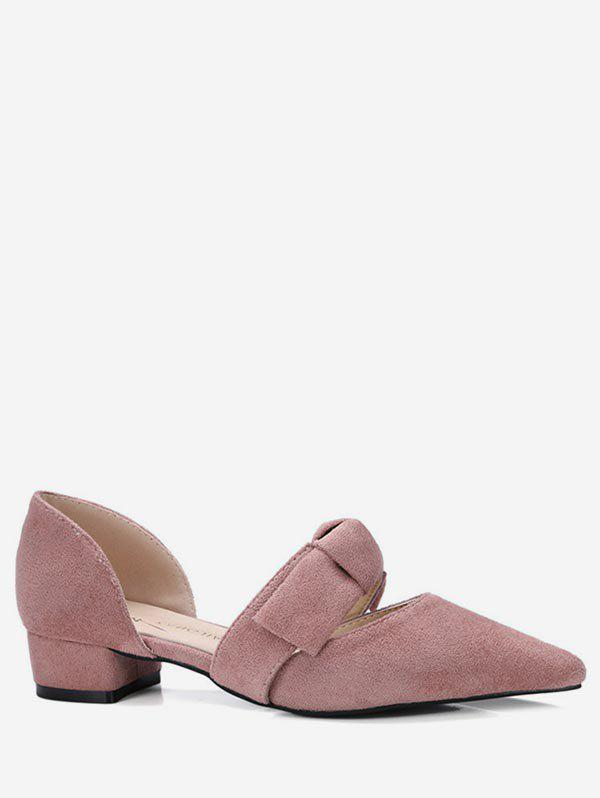 Buy Pointed Toe Bow Tie Flat Shoes