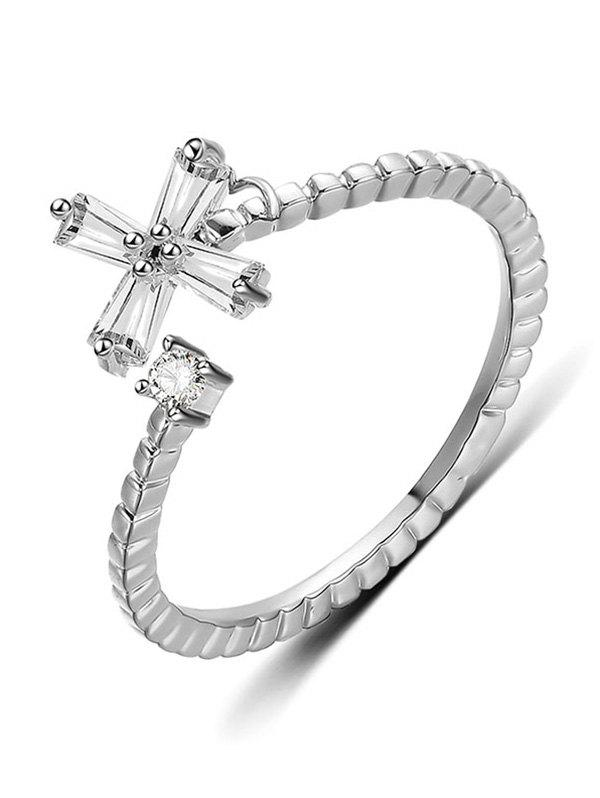 Online Artificial Diamond Inlaid Decoration Finger Ring