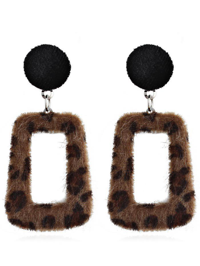 Chic Hollow Out Leopard Pendant Earrings