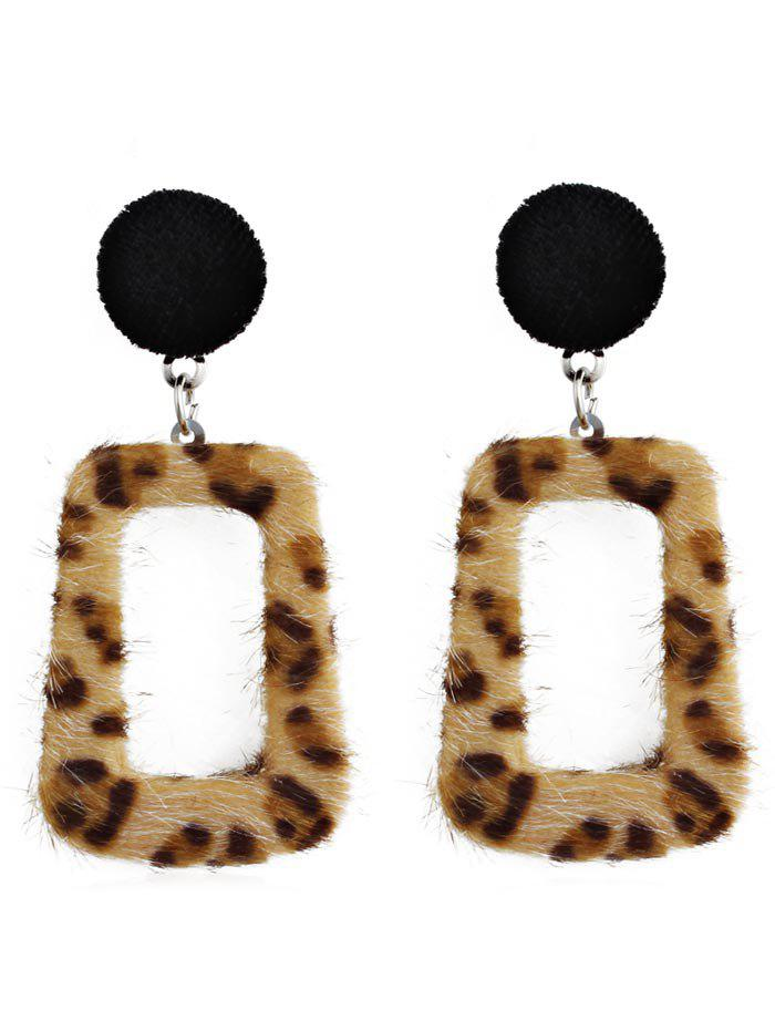 Fashion Hollow Out Leopard Pendant Earrings