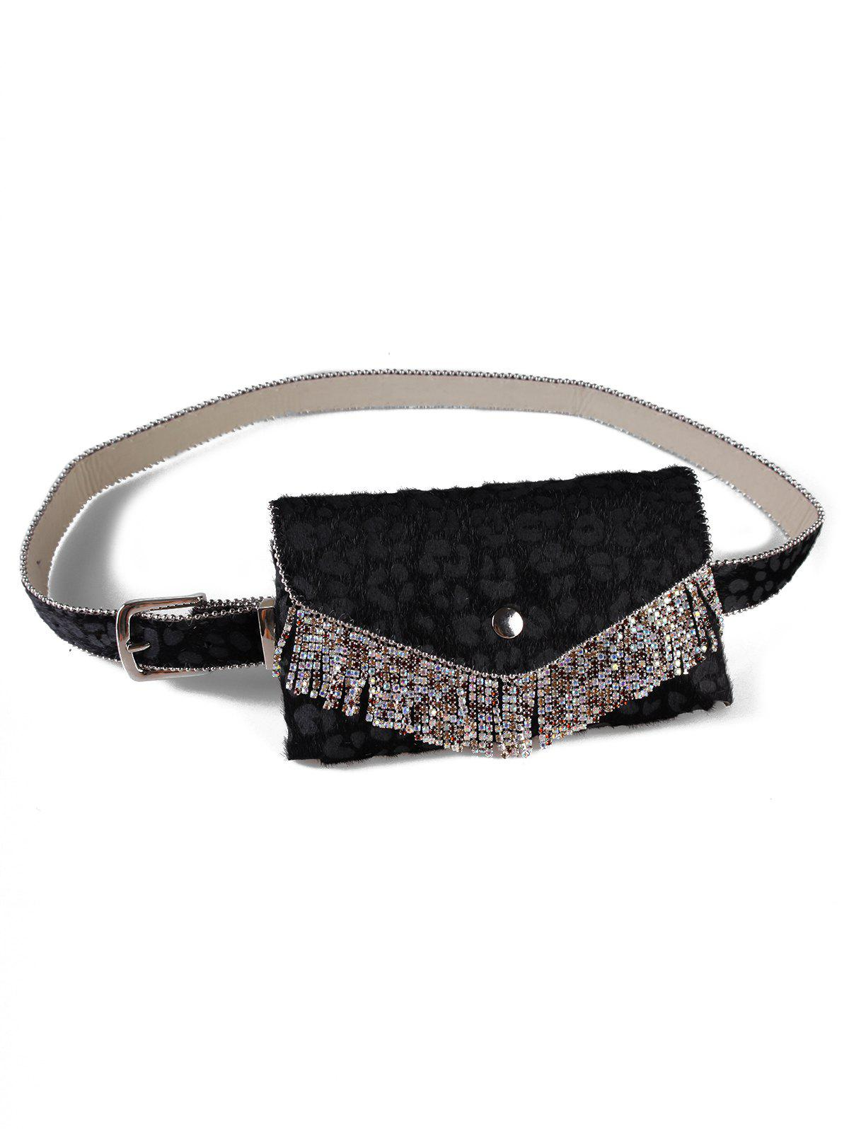 Shop Vintage Leopard Print Rhinestone Belt Bag