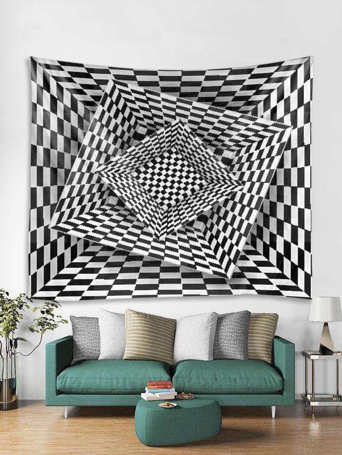 Outfit 3D Plaid Geometric Print Tapestry Art Decoration