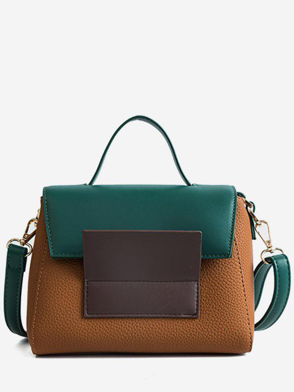 Affordable Color Block Going Out Handbag