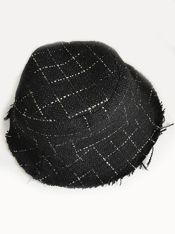Unique Stylish Plaid Decorative Bucket Hat