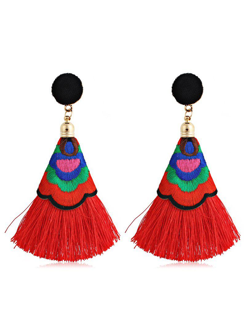 Affordable Ball Shape Long Tassel Drop Earrings