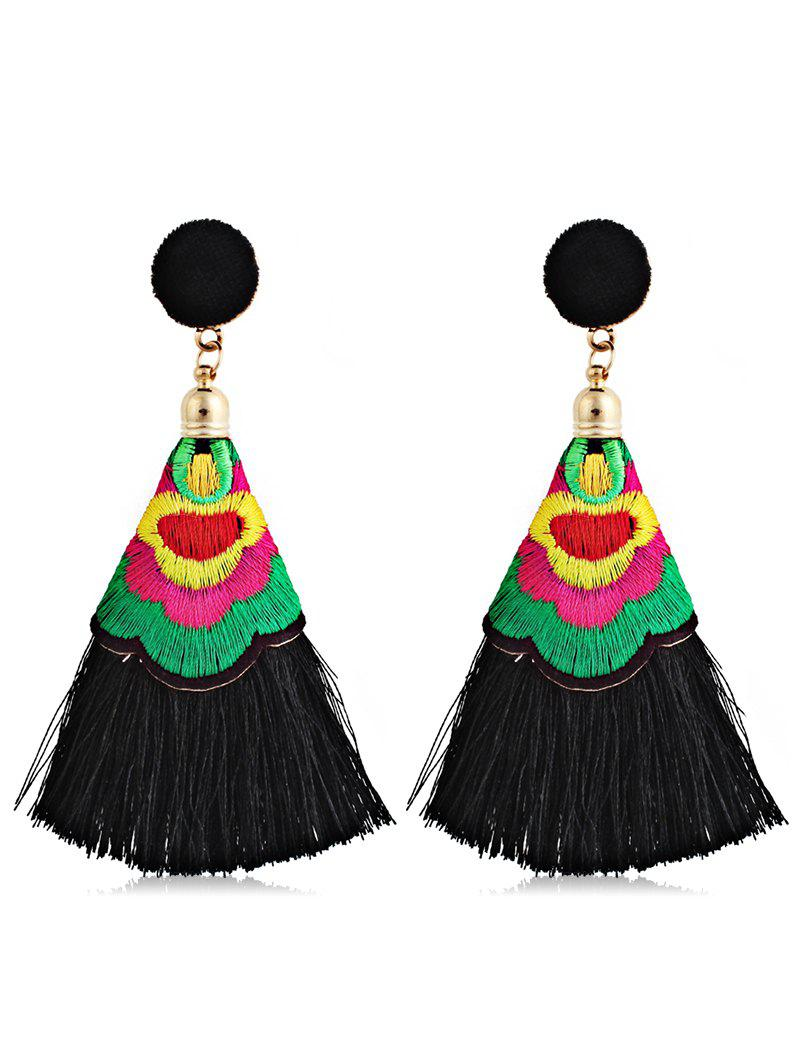 Outfits Ball Shape Long Tassel Drop Earrings