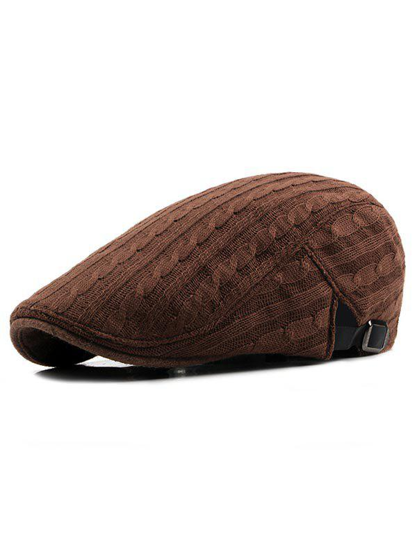 Best Solid Color Knitted Newsboy Cap