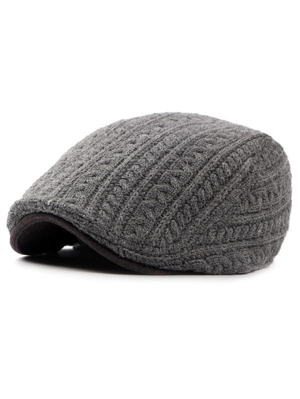 Fancy Winter Knitted Thick Jeff Hat