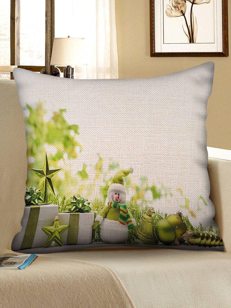 Outfit Christmas Gift Ball Pattern Decorative Sofa Linen Pillowcase