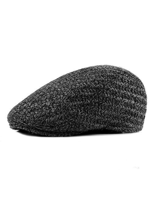 Latest Solid Color Knitted Jeff Hat