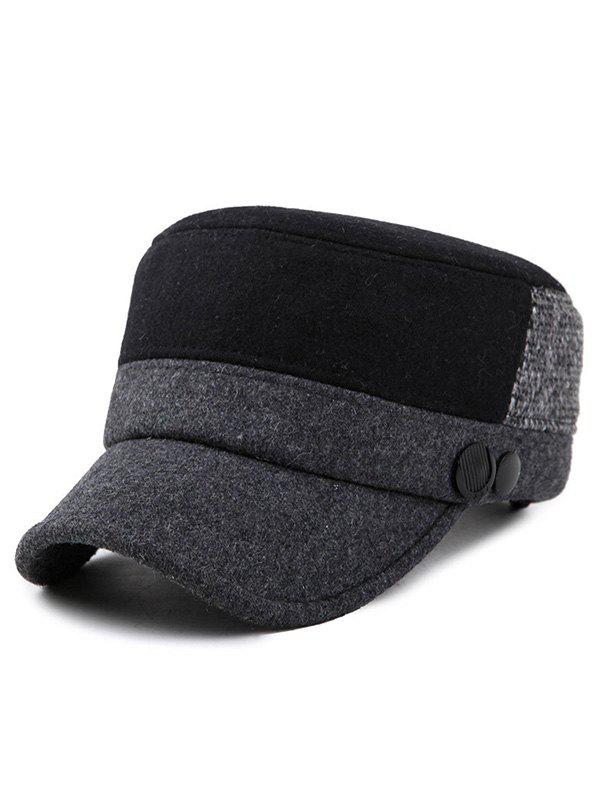 Outfit Stylish Color Block Flat Top Hat