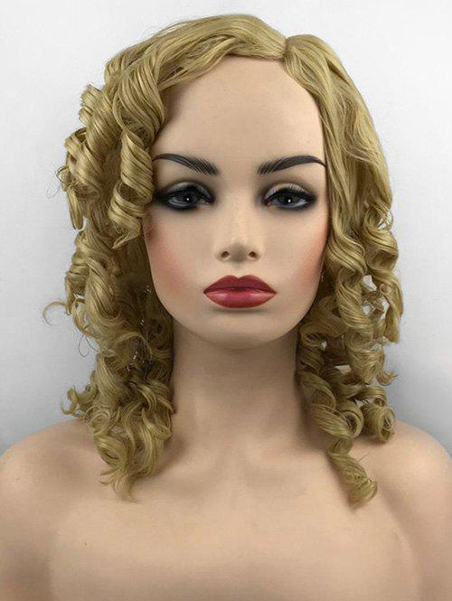 Outfits Long Side Parting Loose Vintage Curly Synthetic Wig