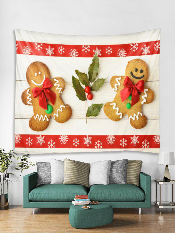 Chic Christmas Cookies Snowflake Pattern Tapestry Art Decoration