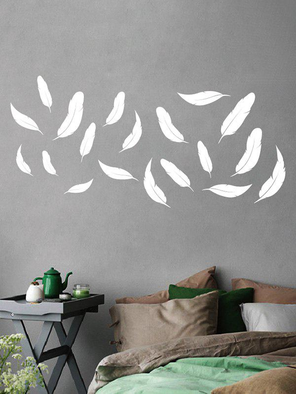 Buy Feathers Print Removable Wall Art Stickers