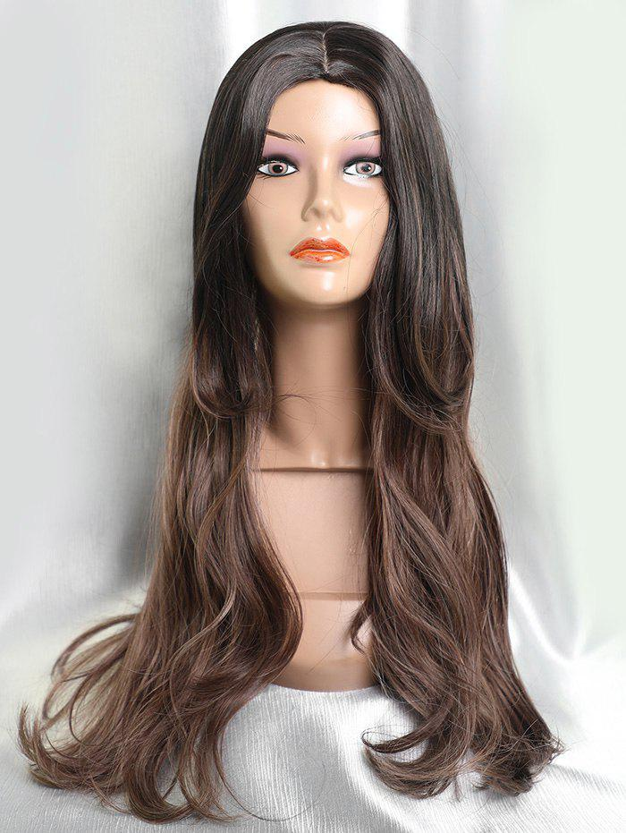 Outfit Long Center Parting Ombre Straight Capless Synthetic Hair
