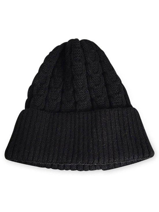 Best Winter Solid Color Flanging Thick Beanie