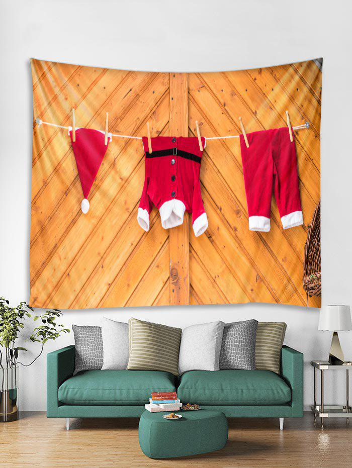 Outfit Wooden Christmas Clothing Print Tapestry Art Decoration