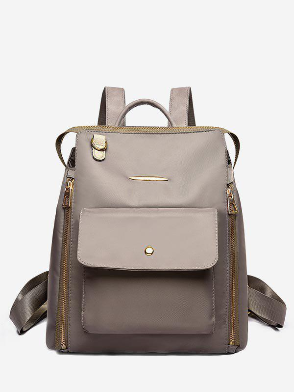 Outfit Zip Pockets Nylon School Backpack