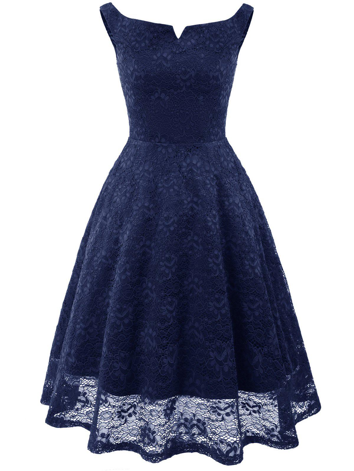 Outfit A Line Lace Knee Length Party Dress